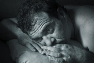 Image showing a man suffering from benzodiazepine addiction