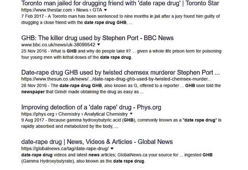 date rape drugs in the news