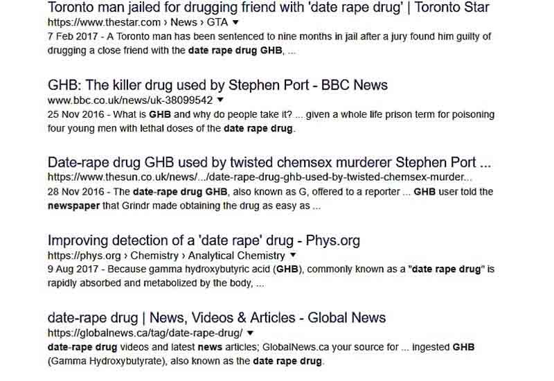 date rape drugs in the news