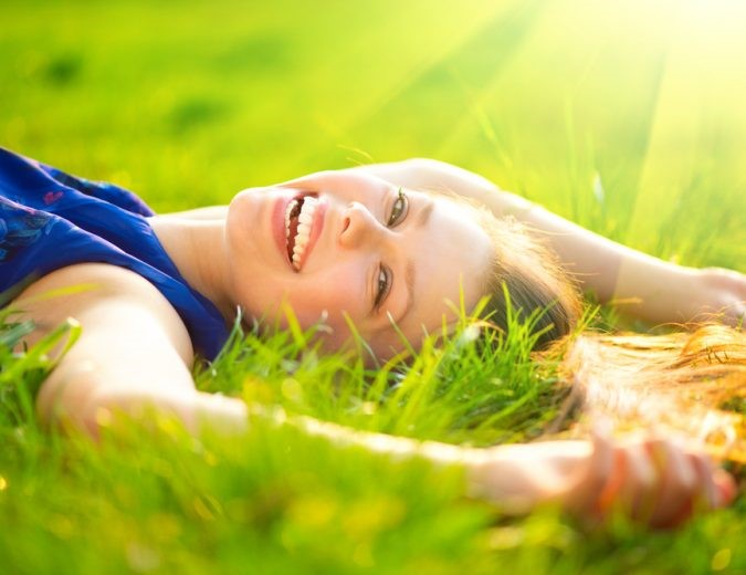 image showing a lady who is happily free from benzodiazepine addiction