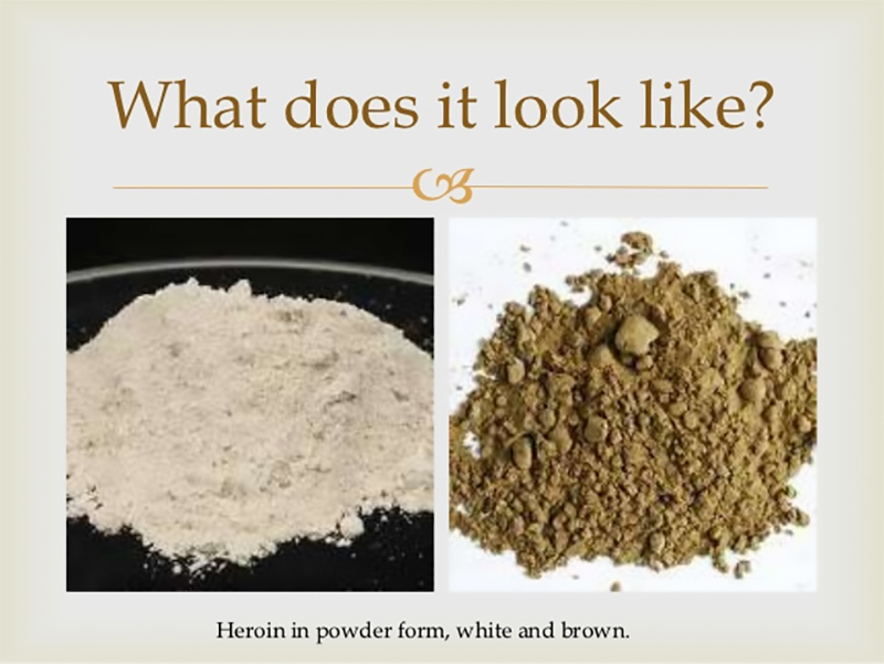 heroin in powder photo