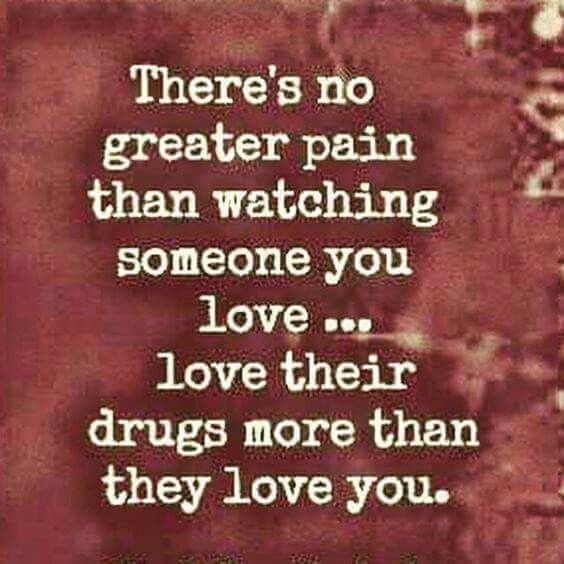 pain of loving an addict image
