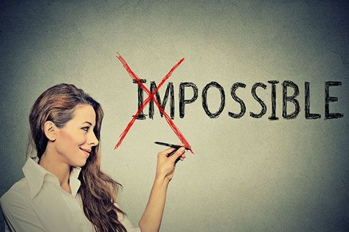 image showing that the the impossible is possible