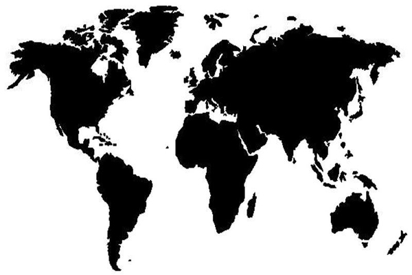 black-whtie-world-map