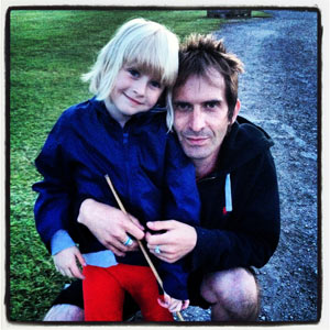 Simon with his daughter Lola
