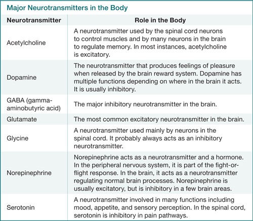 Neurotransmitters and detox