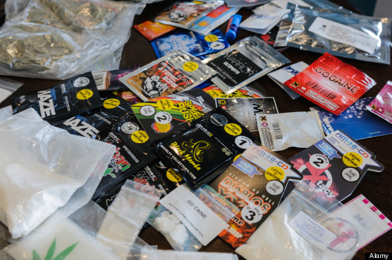 """Selection of so-called """"legal highs"""" including GoCaine, Atomic Bomb, Speed Rush, Maze and Black Mamba"""