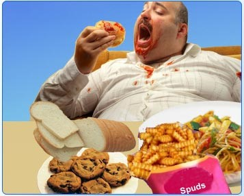 Image showing a compulsive overeater