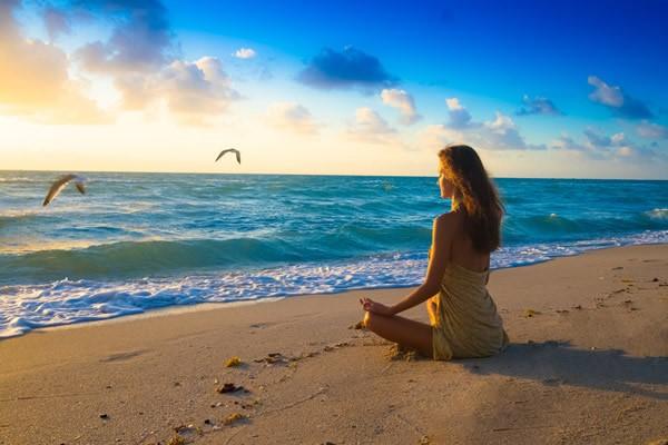 Image showing a woman enjoying peaceful life without addiction