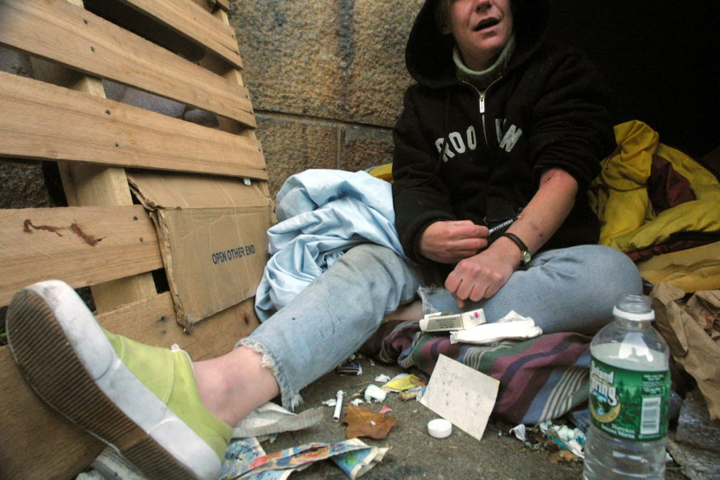 an image of a drug addict