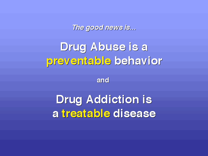 image showing that drug addiction is treatable