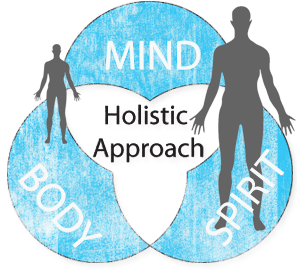 image showing the the three features of the holistic approach