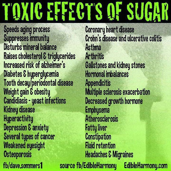 the toxic effects of sugar