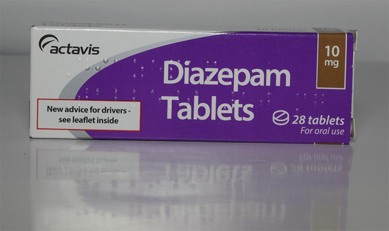 box of diazepam tablets by actavis