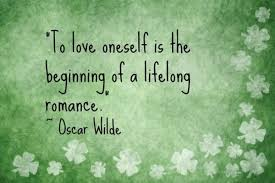 love oneself wilde quote