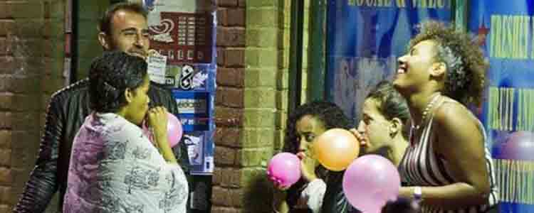 using laughing gas outside photo
